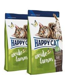 HAPPY CAT Fit & Well Indoor Adult Jagnięcina 20 kg (2 x 10 kg)