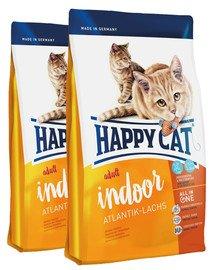 HAPPY CAT Fit & Well Indoor Adult Łosoś 20 kg (2 x 10 kg)