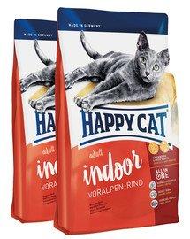 HAPPY CAT Fit & Well IndoorAdult Wołowina 20 kg (2 x 10 kg)