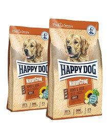 HAPPY DOG NaturCroq wołowina/ ryż 30 kg (2 x 15 kg)