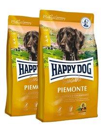 HAPPY DOG Supreme piemonte - kaczka, kasztan, ryby 20 kg (2 x10 kg)