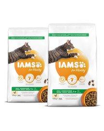 IAMS for Vitality dla dorosłych kotów ze świeżym kurczakiem 20 kg (2 x 10 kg)