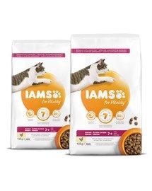 IAMS for Vitality dla starszych kotów ze świeżym kurczakiem 20 kg (2 x 10 kg)