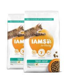 IAMS for Vitality o obniżonej zawartości tłuszczu dla dorosłych kotów po sterylizacji 20 kg (2 x 10 kg)