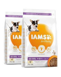 IAMS ProActive Health Puppy & Junior Small & Medium Breed Chicken 24 kg (2 x 12 kg)