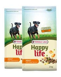 VERSELE-LAGA Happy life adult beef 30 kg (2 x 15 kg)