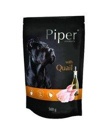 PIPER Animals z przepiórką 500g mokra karma dla psa