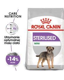 Mini Sterilised karma sucha dla psów dorosłych, ras małych, sterylizowanych 8 kg