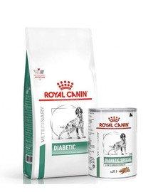 ROYAL CANIN Vet Dog Diabetic 12 kg dla dorosłych psów z cukrzycą + 12 x Diabetic 410 g mokra karma