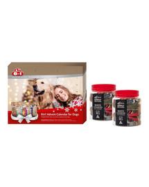 8in1 Zestaw świąteczny Kalendarz adwentowy + 2 x ciasteczka z żurawiną dla psa 220 g