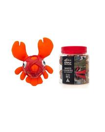 KONG Zestaw świąteczny Zabawka homar + ciasteczka z żurawiną dla psa 220 g