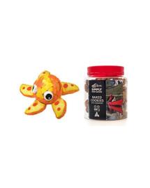 KONG Zestaw świąteczny Zabawka żółw + ciasteczka z żurawiną dla psa 220 g