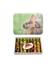 VITAPOL Zestaw świąteczny Bombonierka z kolbami + mata do spania dla królika