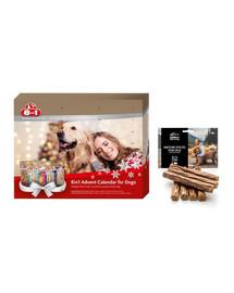 8in1 Zestaw świąteczny Kalendarz adwentowy + naturalne cygara dla psa 7 szt.