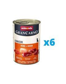 ANIMONDA GranCarno Junior zestaw z wołowiną i kurczakiem 6 x 800 g