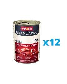 ANIMONDA GranCarno zestaw koktajl mięsny 12 x 400 g