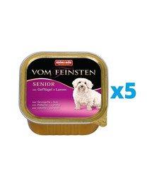 ANIMONDA Vom Feinsten Senior zestaw z drobiem i jagnięciną 5 x 150 g
