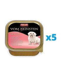 ANIMONDA Vom Feinsten Senior zestaw z sercem indyczym 5 x 150 g