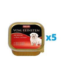 ANIMONDA Vom Feinsten Senior zestaw z wołowiną i drobiem 5 x 150 g
