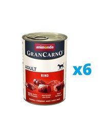ANIMONDA GranCarno zestaw z wołowiną 6 x 400 g