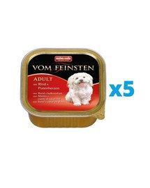ANIMONDA Vom Feinsten Classic zestaw z wołowiną i sercami z indyka 5 x 150 g