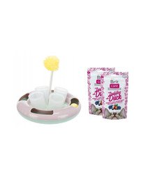 BRIT Zestaw świąteczny 2 x Przysmaki z kaczką dla kota 50 g + zabawka na przysmaki