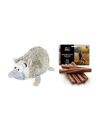 ZOLUX Zestaw świąteczny Pluszak jeż + naturalne cygara z kaczką dla psa 7 szt.