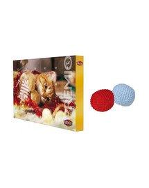 TRIXIE Zestaw świąteczny Kalendarz adwentowy + piłeczka dla kota