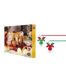 TRIXIE Zestaw świąteczny Kalendarz adwentowy + wędka zabawka dla kota