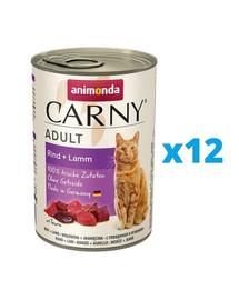 ANIMONDA Carny Adult zestaw wołowina i jagnięcina 12 x 400 g
