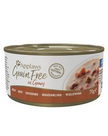 Cat Tin Grain Free 70 g karma mokra dla kota z wołowiną w sosie