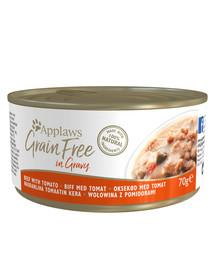 Cat Tin Grain Free 70 g mokra karma dla kota wołowina z pomidorami w sosie