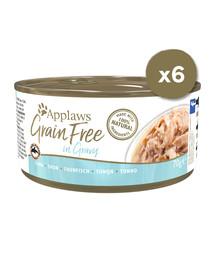 Cat Tin Grain Free 6 x 70 g mokra karma dla kota tuńczyk w sosie