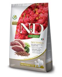 N&D Quinoa Dog Neutred Adult Madium & Maxi duck, broccoli & asparagus 2.5 kg kaczka, brokuł i szparagi dla psów po kastracji