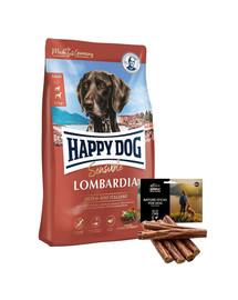 HAPPY DOG Supreme Lombardia 11 kg + naturalne cygara z kaczką 7 szt.