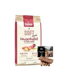 BOSCH Soft Maxi bawół wodny bataty 12,5 kg + naturalne cygara z dzikiem 7 szt.