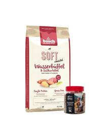 BOSCH Soft Maxi bawół wodny bataty 12,5 kg + przysmaki treningowe z dzikiem 300 g