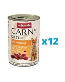 ANIMONDA Carny Puszka Kitten Wołowina i Drób 12 x 400 g