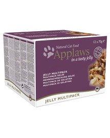 Cat Tin Multipack 12 x 70 g Jelly Selection mokra karma w galaretce dla kota mix smaków z rybą i kurczakiem