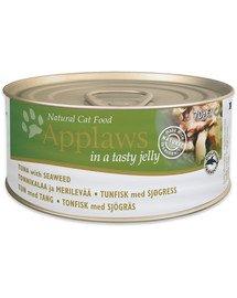 APPLAWS Cat Tin 72x70g Tuna with Seaweed in Jelly tuńczyk z wodorostami w galarecie