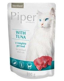 PIPER Kot Sterilised Tuńczyk saszetka 100 g mokra karma dla kotów po sterylizacji
