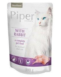 PIPER Animals z królikiem dla kota po sterylizacji 100 g