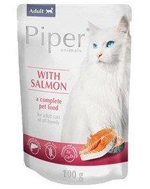 PIPER Animals Cat z łososiem 100 g mokra karma dla kota