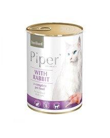 PIPER Animals z królikiem 400 g mokra karma dla kota sterylizowanego