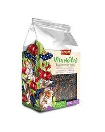 Vita Herbal mieszanka uzupełniająca dla gryzoni i królika Jagodowy Mix 200 g