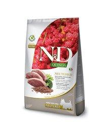 N&D Quinoa Dog Neutere Adult Mini duck, broccoli & asparagus 7 kg kaczka, brokuł i szparagi dla psów po kastracji