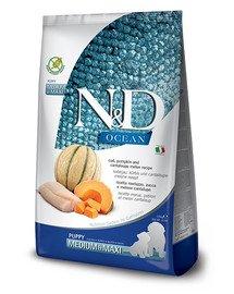 N&D Ocean Dog Puppy Medium & Maxi cod, pumpkin & cantaloupe melon 2.5 kg dorsz, dynia, melon kantalupa dla szczeniąt i suk w ciąży