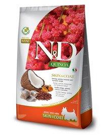 N&D Quinoa Dog Skin&Coat Adult Mini herring, coconut 2.5 kg śledź i kokos