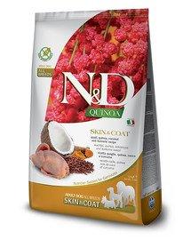 N&D Quinoa Dog Skin&Coat Adult Mini quail, coconut 2.5 kg przepiórka i kokos