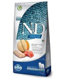 N&D Ocean Dog Adult Giant Maxi salmon, cod, & cantaloupe melon 12 kg łosoś, dorsz, melon kantalupa